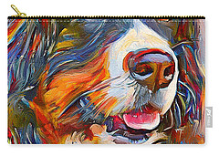 Dog In Colors Carry-all Pouch