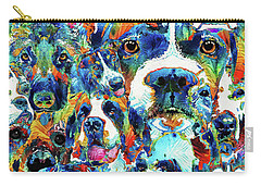 Dog Lovers Delight - Sharon Cummings Carry-all Pouch by Sharon Cummings