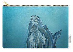Dog-themed Jaws Caricature Art Print Carry-all Pouch