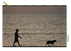Dog Walker Dawn Delray Beach Florida Carry-all Pouch