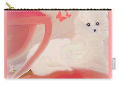 Carry-all Pouch featuring the digital art Doggie Art  My Love by Sherri Of Palm Springs