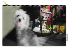 Doggie In The Patio Painting Carry-all Pouch