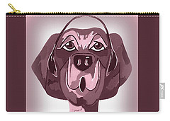 Doggie Singing The Blues Carry-all Pouch by Kathleen Sartoris