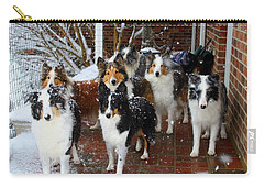 Dogs During Snowmageddon Carry-all Pouch