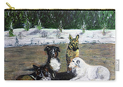 Dogs Having A Meeting Carry-all Pouch