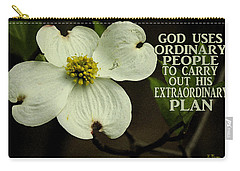 Carry-all Pouch featuring the photograph Dogwood Bloom / Flower by James C Thomas