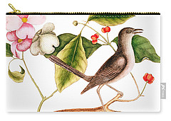 Dogwood  Cornus Florida, And Mocking Bird  Carry-all Pouch by Mark Catesby