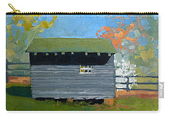 Dogwood Farm Shed Carry-all Pouch by Catherine Twomey