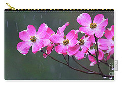 Dogwood Flowers In The Rain 0552 Carry-all Pouch