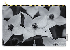 Carry-all Pouch featuring the photograph Dogwood In Monochrome by Rachel Cohen