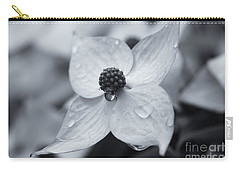 Carry-all Pouch featuring the photograph Dogwood Rain Mono by Rachel Cohen