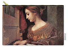 Dolci Carlo St Cecilia At The Organ Carry-all Pouch by Carlo Dolci