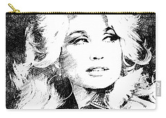 Dolly Parton Bw Portrait Carry-all Pouch