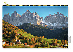 Dolomite Village In Autumn Carry-all Pouch by IPics Photography