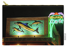 Carry-all Pouch featuring the photograph Dolphin Inn - Wildwood Nj by Kristia Adams