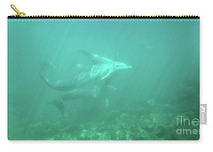 Carry-all Pouch featuring the photograph Dolphin Swim by Francesca Mackenney
