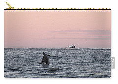 Carry-all Pouch featuring the photograph Dolphins At Play by Robert Banach