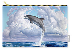 Dolphonic Symphony Carry-all Pouch by Jerry LoFaro