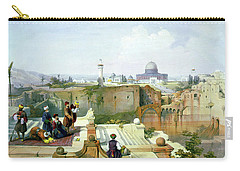 Dome Of The Rock In The Background Carry-all Pouch