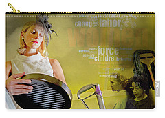 Domestic Considerations Same Old Carry-all Pouch by Ann Tracy