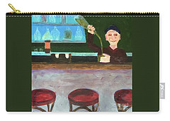 Carry-all Pouch featuring the painting Don At Tres Gringos Bartending by Donald J Ryker III