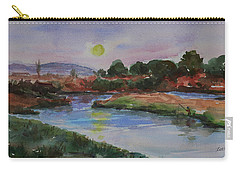 Carry-all Pouch featuring the painting Don Edwards San Francisco Bay National Wildlife Refuge Landscape 1 by Xueling Zou
