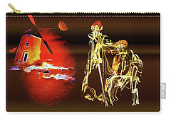 Carry-all Pouch featuring the painting Don Quixote And Sancho Panza by Valerie Anne Kelly