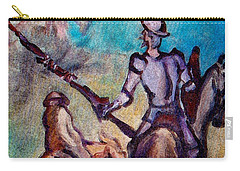 Don Quixote With Windmill Carry-all Pouch