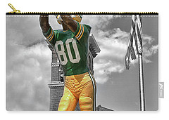 Carry-all Pouch featuring the photograph Donald Driver Statue by Joel Witmeyer