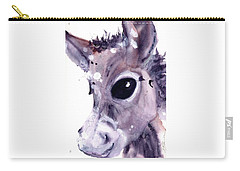 Carry-all Pouch featuring the painting Donkey by Dawn Derman