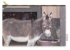 Donkey Watching It Snow Carry-all Pouch