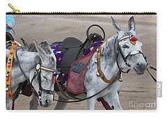 Donkeys On Blackpool Beach Carry-all Pouch