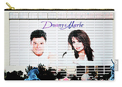 Donny And Marie Osmond Large Ad On Hotel Carry-all Pouch