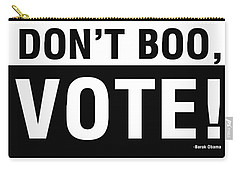 Don't Boo Vote- Art By Linda Woods Carry-all Pouch