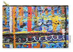 Carry-all Pouch featuring the painting Don't Bother They're Here by Pam Roth O'Mara