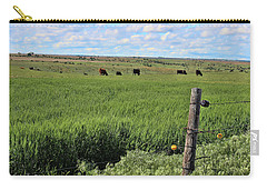 Don't Fence Me In Carry-all Pouch by Sylvia Thornton
