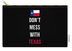Don't Mess With Texas Tee Black Carry-all Pouch