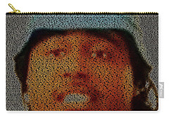 Don't Mind Mosaic Carry-all Pouch by Paul Van Scott