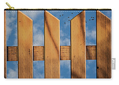 Carry-all Pouch featuring the photograph Don't Take A Fence by Paul Wear