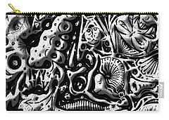 Carry-all Pouch featuring the digital art Doodle Emboss by Darren Cannell