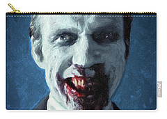 Carry-all Pouch featuring the painting Doom Head by Taylan Apukovska