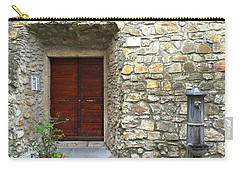 Door And Fountain  In Anzio Italy Carry-all Pouch