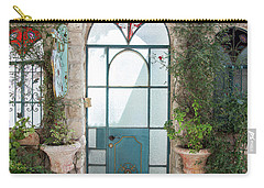 Carry-all Pouch featuring the photograph Door Entrance To The Art by Yoel Koskas