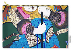 Carry-all Pouch featuring the painting Door Guard No.1 by Fei A