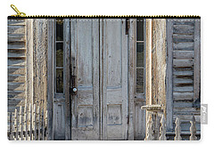 Door Of The Old Bannack Schoolhouse And Masonic Temple Carry-all Pouch