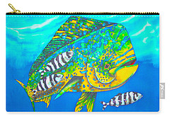 Dorado And Pilot Fish - Mahi Mahi Fish Carry-all Pouch