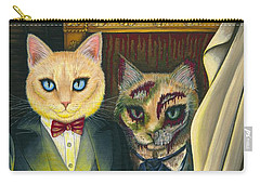 Carry-all Pouch featuring the painting Dorian Gray by Carrie Hawks