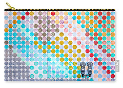 Dots, Many Colored Dots Carry-all Pouch