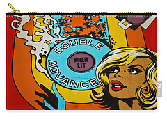Double Advance - Pinball Carry-all Pouch by Colleen Kammerer