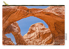 Carry-all Pouch featuring the photograph Double Arch At Arches National Park by Sue Smith